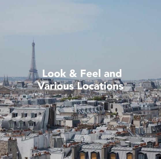 Paris galerie - look & feel and various locations